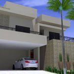 Fachada de Casa Moderna garagem