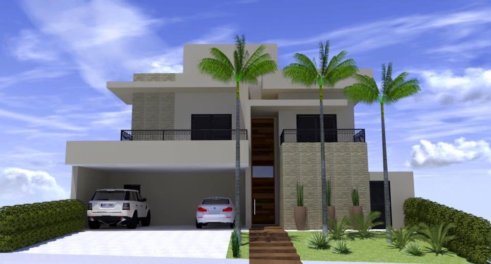 Fachada de residencias modernas residncia glauco casas for Casas modernas de 70m2