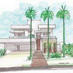 Perspectiva de Casa Moderna Fachada