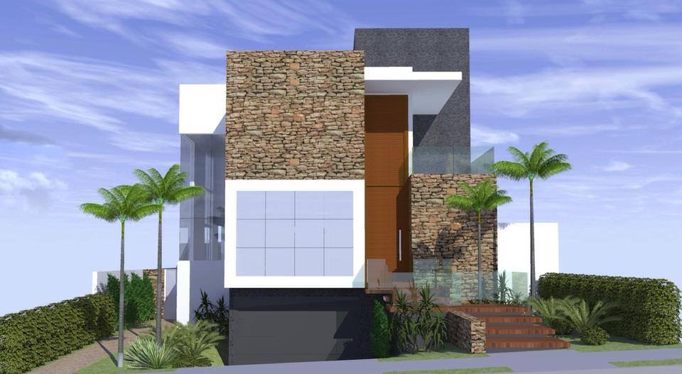 Arquitetura casa moderna arquitetura zanetti e madi for Frente casa moderna