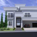 Projeto Arquitetura Neoclássica Casa Fachada