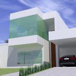 Projeto de Arquitetura Moderna - Fachada Residencia em Rio Preto