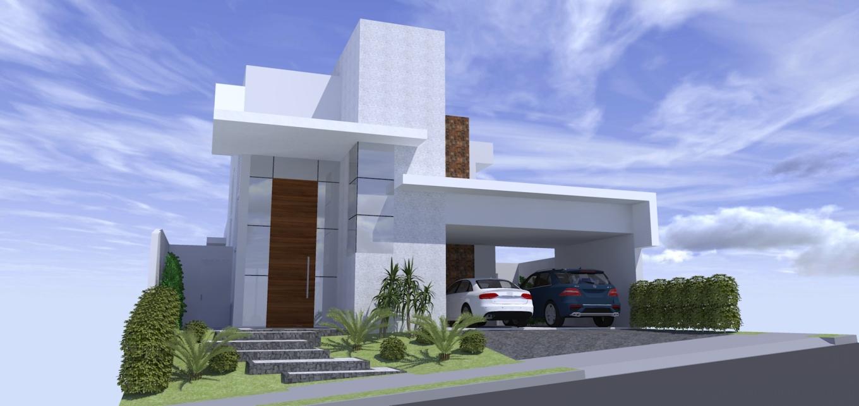 Fachadas modernas casas terreas hermosas pequeas plano de for Casa moderna economica