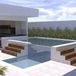 Projeto de Arquitetura Moderna - Área Externa Residencia em Rio Preto