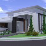 Perspectiva de Residência Neoclássica por Arquitetos em São José do Rio Preto