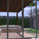 Perspectiva de Residência Neoclássica Área Interna por Arquitetos