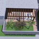 Perspectiva de Residência Neoclássica Detalhes Area Lazer por Arquitetos